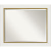 This item: Eva White and Gold 33W X 27H-Inch Bathroom Vanity Wall Mirror