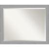 This item: Brushed Nickel 32W X 26H-Inch Bathroom Vanity Wall Mirror