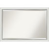 This item: Eva White and Silver 39W X 27H-Inch Bathroom Vanity Wall Mirror