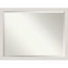 This item: Rustic Plank White 43W X 33H-Inch Bathroom Vanity Wall Mirror