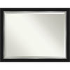 This item: Eva Black and Silver 45W X 35H-Inch Bathroom Vanity Wall Mirror