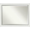 This item: Eva White and Silver 45W X 35H-Inch Bathroom Vanity Wall Mirror