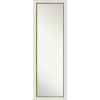 This item: Eva White and Gold 17W X 51H-Inch Full Length Mirror
