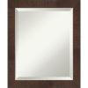 This item: Wildwood Brown 20W X 24H-Inch Bathroom Vanity Wall Mirror