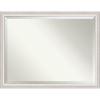 This item: Trio White and Silver 44W X 34H-Inch Bathroom Vanity Wall Mirror