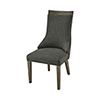This item: Five Boroughs Reclaimed Brown, Grey Wood and Forest Floor Linen 20.5-Inch Dining Chair