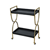 This item: Snake Black Faux Snakeskin with Gold Plated Stainless Steel 25-Inch Bar Cart