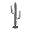 This item: Oaxaca Rust and Pewter With Gold Accents Cactus Decorative Statue