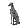 This item: Purr Restoration Grey Dog Decorative Statue