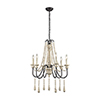 This item: Sommieres Antique French Cream with Dark Bronze Six Light Chandelier