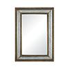 This item: Laight Galvanized Steel and Medium Tone Distressed Oak Finish 30-Inch Mirror