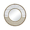 This item: Old Sand and White Washed Wood 31-Inch Mirror