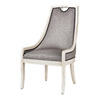 This item: Silver, Grey and White 41-Inch Arm Chair