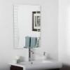 This item: Ava Modern Rectangular Frameless Bathroom Mirror
