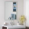 This item: Modern Etched Border Frameless Mirror