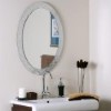 This item: Luxor Cystal Frameless Oval Mirror
