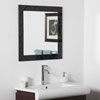 This item: Luciano Black Square Beveled Frameless Wall Mirror