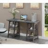 This item: Designs2Go Charcoal Gray Double Trestle Desk