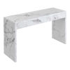 This item: Northfield White Faux Marble Hall Console Table