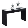 This item: Northfield Black Honeycomb Particle Board Mirrored Console Table