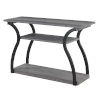 This item: Meadowlark Charcoal Gray Black Frame Particle Board Console Table