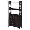 This item: Oxford Espresso Bookcase with Cabinet