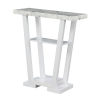 This item: Newport Faux White Marble and White V-Shaped Console Table