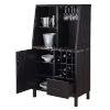 This item: Newport Espresso Wine Storage Bar