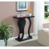 This item: Newport Faux Black Marble and Weathered Gray Console Table