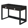 This item: Newport Espresso and Black Two-Drawer Desk with Charging Station