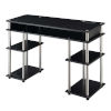 This item: Designs2Go Black Student Desk with Charging Station