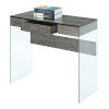 This item: SoHo Weathered Gray Glass 36-Inch Desk