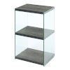 This item: SoHo Weathered Gray Three-Tier Tower Bookcase