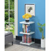 This item: Soho 3 White Faux Marble 12-Inch Three Tier Tower Bookcase