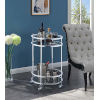 This item: Royal Crest Clear Glass and Chrome 20-Inch Bar Cart with Wheel
