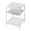 This item: Gold Coast Carrara End Table in Faux White Marble and Chrome