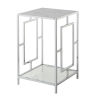 This item: Town Square Faux White Marble and Chrome End Table