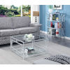 This item: Town Square Clear Glass and Chrome 32-Inch Square Coffee Table