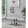 This item: Town Square Clear Glass, Mirror and Chrome Bar Cart