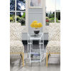 This item: Town Square Clear Glass and Chrome 16-Inch Wedge End Table