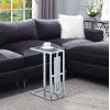 This item: Town Square Clear Glass and Chrome 10-Inch End Table