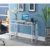 This item: Town Square Clear Glass and Chrome Desk With Shelf