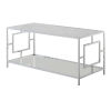 This item: Town Square Faux White Marble and Chrome Coffee Table