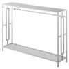 This item: Town Square Faux White Marble and Chrome Console Table