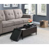 This item: Designs 4 Comfort Espresso Faux Leather 16-Inch Storage Ottoman with Trays