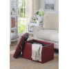 This item: Designs4Comfort Burgundy Faux Leather 16-Inch Storage Ottoman