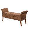 This item: Designs4Comfort Garbo Forest Leopard Print Storage Bench