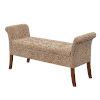 This item: Designs4Comfort Garbo Savanna Leopard Print Storage Bench