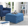 This item: Designs4Comfort Blue Folding Bed Ottoman