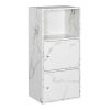 This item: White Marble 35-Inch Xtra Storage Two Door Cabinet